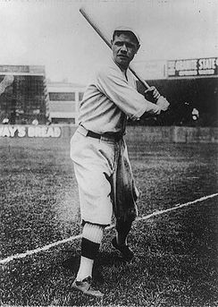 Babe Ruth, holding up bat.jpg