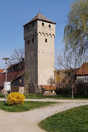 Der Hexenturm ist das Wahrzeichen von Babenhausen