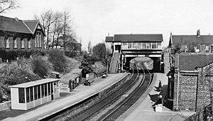 Backworth railway station - Backworth railway station in 1970