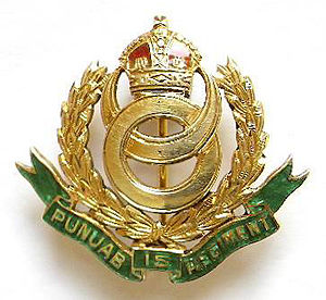 15th Punjab Regiment - Image: Badge of 15th Punjab Regiment 1922 47