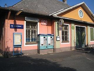 Frankfurt-Mainkur station railway station in Frankfurt, Germany
