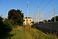 Bahnhof Melk Aufnahmegebäude Lärmschutzwand.JPG