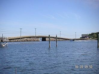 Bailey Island Bridge - Bailey Island Bridge from Bailey Island, looking toward Orr's Island