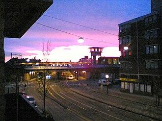 Amsterdam Muiderpoort railway station - Image: Balkonview