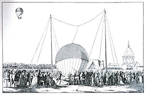 Jean-François Pilâtre de Rozier - The first tethered balloon ascent on 15 October 1783 by Rozier.