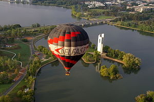 Lake Burley Griffin - Balloon and National Carillon,  Lake Burley Griffin