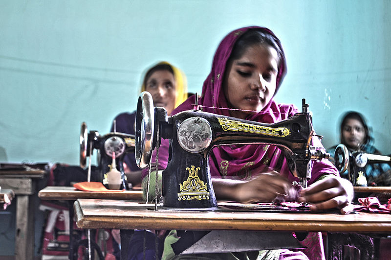 File:Bangladeshi women sewing clothes.jpg