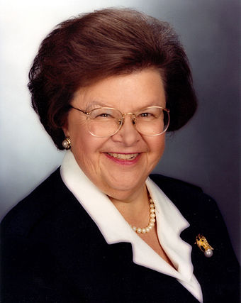 Mikulski challenged Charles Mathias for his Senate seat in 1974. - Barbara Mikulski