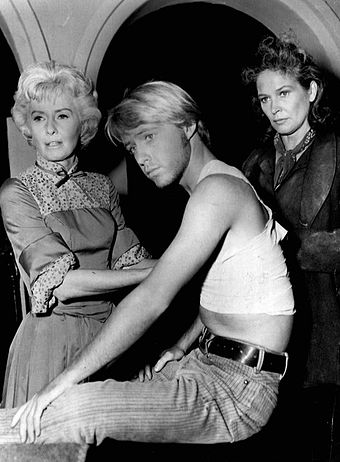 Dewhurst (right) guest-starring on The Big Valley in 1966 with Barbara Stanwyck (left) Barbara Stanwyck Colleen Dewhurst The Big Valley.jpg