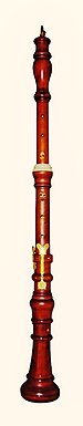 Oboe barroco, copia Stanesby.