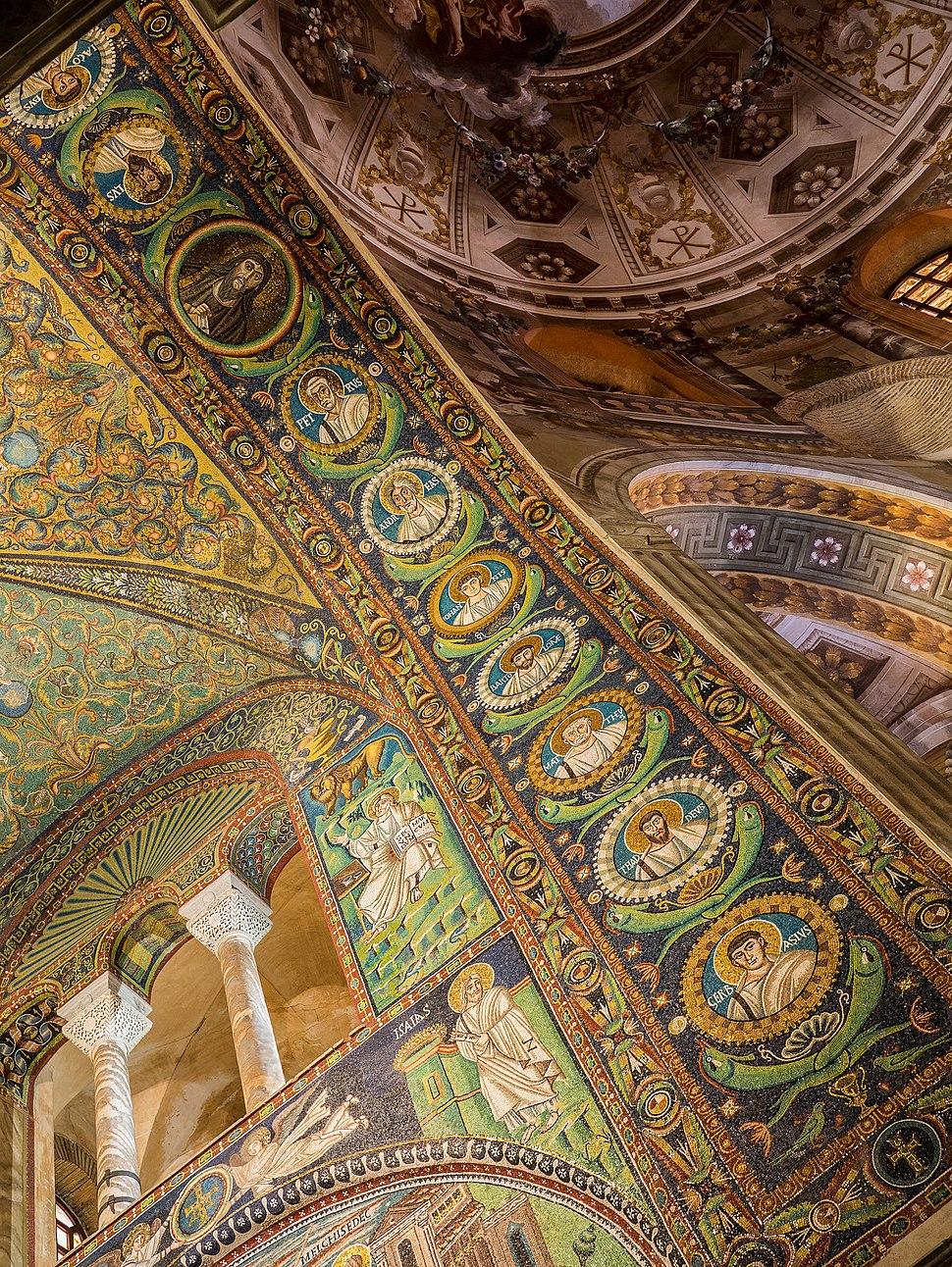 Basilica of San Vitale - triumphal arch mosaics