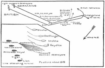 морской бой состоявшийся 24 января 1915 года во время 1-й мировой войны между германской эскадрой адмирала Франца...