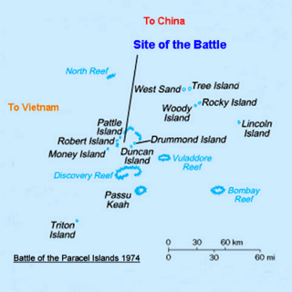 Battle of the Paracel Islands naval battle between the Peoples Republic of China and the Republic of Vietnam (South Vietnam) in the Paracel Islands