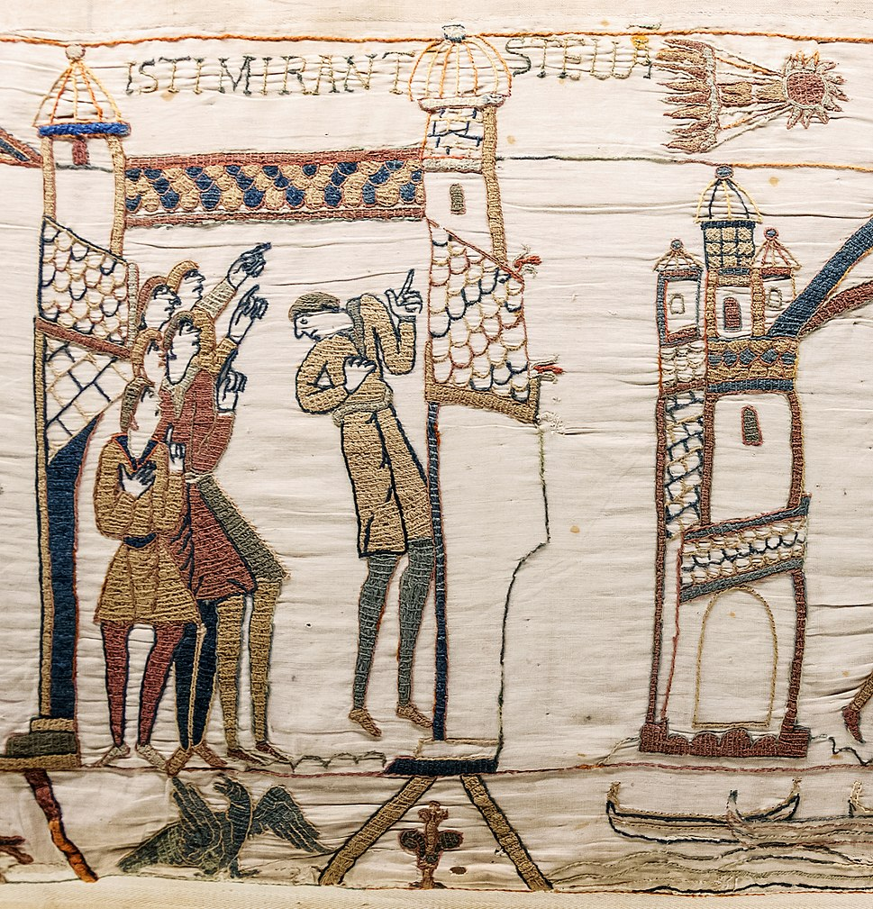 Bayeux Tapestry scene32 Halley comet