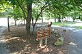 Beach area sign for hours Douthat State Park (31540081455).jpg