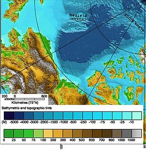 Topography of the Beaufort Sea area