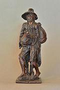 Beggar carved in pinewood Gröden.jpg