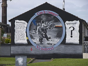 1969 Northern Ireland riots - A mural in Belfast commemorating the 1969 riots