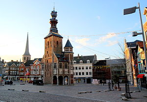 Tielt - Market square and Halletoren