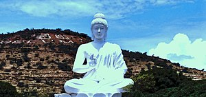 Belum Caves - a Buddha statue near the caves
