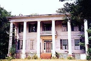 Belvoir (Saffold Plantation) - Belvoir in 1997, prior to restoration