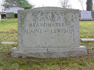 Ben Grauer - The headstone of Ben Grauer in Westchester Hills Cemetery