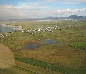 Uist - Balivanich from the air