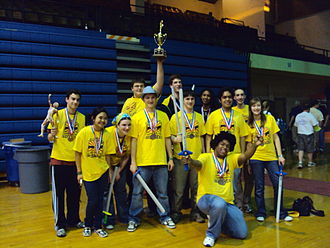 Benet Academy - Members of the Benet Science Alliance team display their awards after the state Illinois Science Olympiad tournament in 2010
