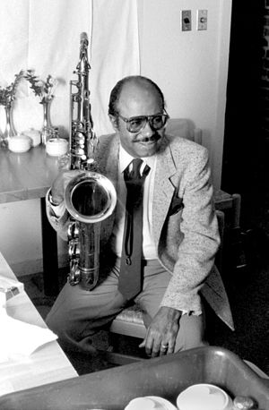 "Benny Golson - Golson at ""Kimball's"" Jazz club, San Francisco, with the Jazztet, July 21, 1985."