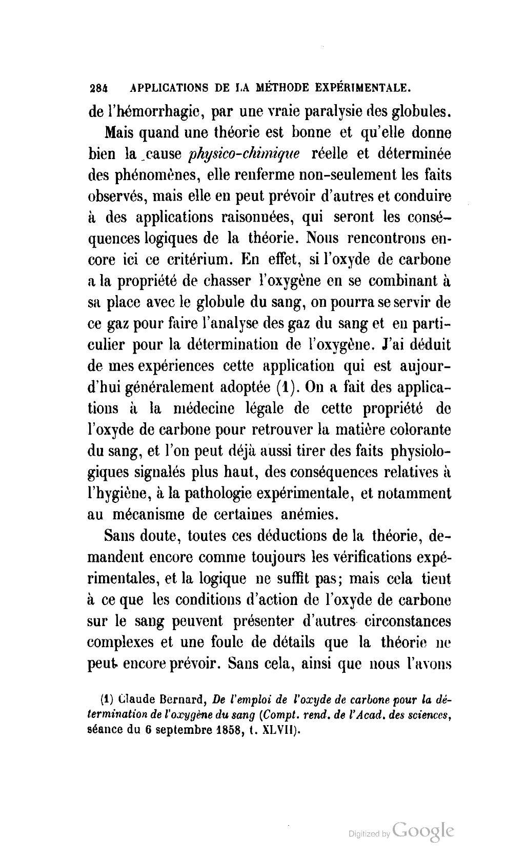 Page bernard introduction l tude de la m decine - Oxyde de carbone ...