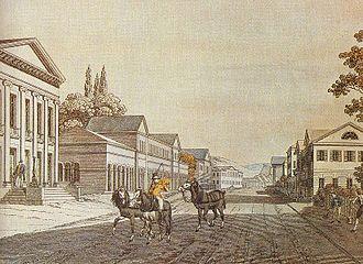 Meiningen - Meiningen Bernhardstreet in 1835