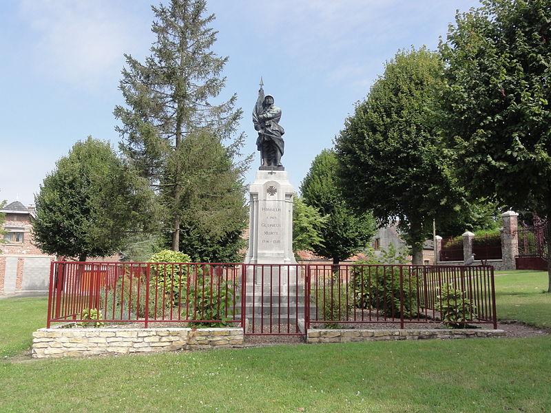 Bernot (Aisne) monument aux morts