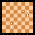 Berolina Pawn represented by an inverted pawn.png