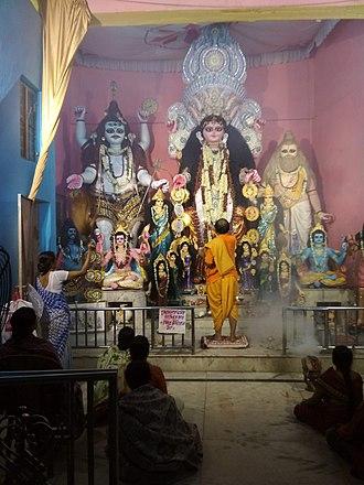 Bhuvaneshvari - Annual Bhuvaneshwari Puja at Chandannagar, India (2018)
