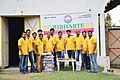Bibharte ngo team distributing stationary in delhi.jpg