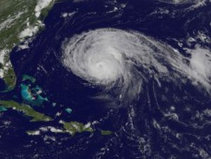 Hurricane Bill (2009) - Hurricane Bill nearing Bermuda on August 21