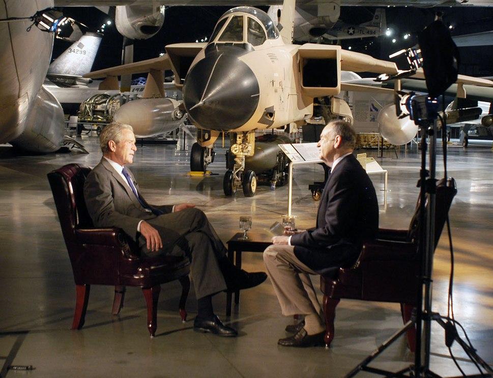 Bill O%27Reilly interviews former President George W. Bush, November 2010 (cropped)