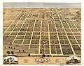 Bird's eye view of the city of Urbana, Champaign County, Illinois 1869. LOC 73693375.jpg