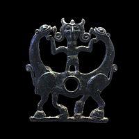 Bit plaque with horned hero-AO 20531-IMG 0986-black.jpg