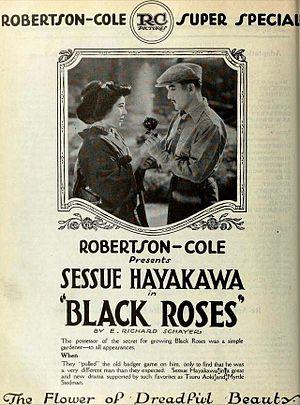 Black Roses (1921 film) - Advertisement for the film