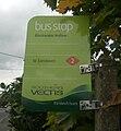 Blackwater Hollow bus stop flag.JPG