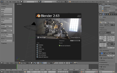 Captura de pantalla del Blender 2.63a