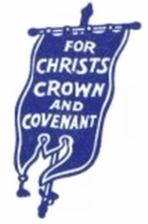 "Alexander Leslie, 1st Earl of Leven - Traditional ""Blue Banner"" insignia used by Reformed Presbyterian Churches"