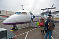 Boarding an Air Southwest Dash 8 at Gatwick for Newquay, 29 Sept. 2010 - Flickr - PhillipC.jpg
