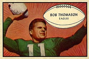 Bobby Thomason - Thomason on a 1953 Bowman football card