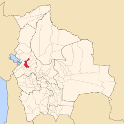Location of Pedro Domingo Murillo Province within Bolivia