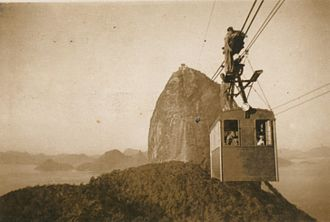 Rio de Janeiro - The Sugarloaf cable car between the 1940s and 1950s