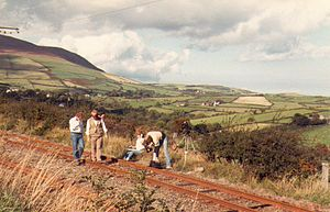 Television in the Isle of Man - ITV Border film crew at Snaefell Railway on the Isle of Man (August 1984)