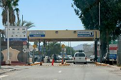 Border crossing between Sonoyta and Lukeville, Arizona