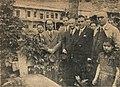 Boris Yotsov, Yordan Badev at the Grave of Kiril Peychinovich.jpg